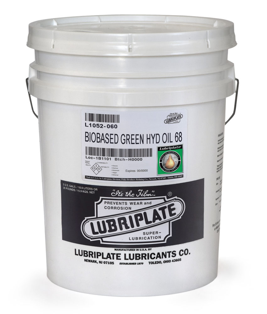 Biobased Green Hydraulic Oil 68   Lubriplate Lubricants Co
